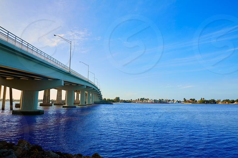Naples Florida Marco Island bridge view in Florida USA photo