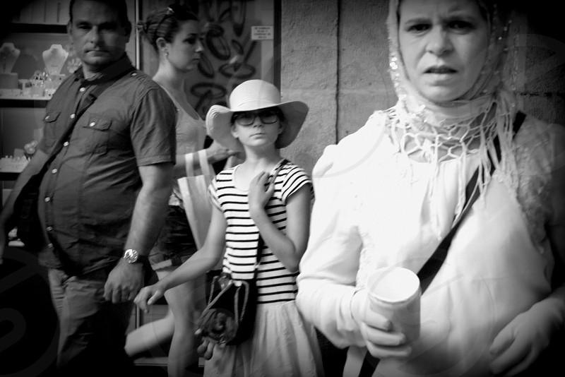 Street people eyes contact  photo