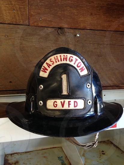Fire fighter hat helmet Washington photo