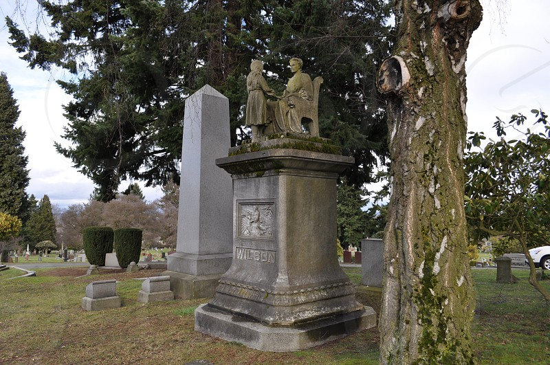 Lakeview Cemetery Seattle headstone tombstone photo
