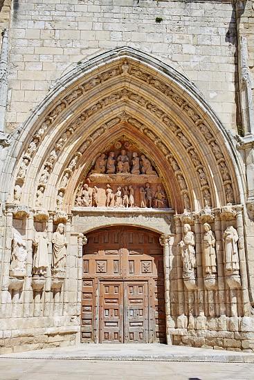 Burgos San Esteban church facade in Castilla Leon of Spain photo