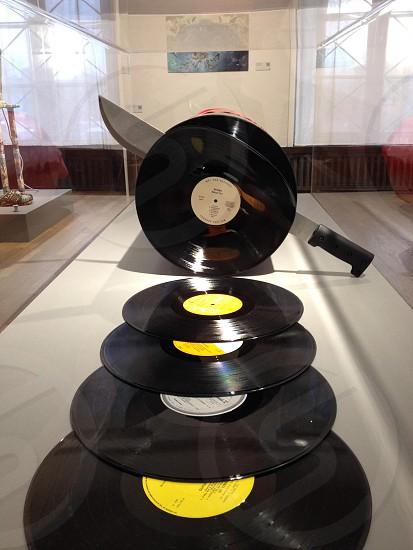 black vinyl discs photo