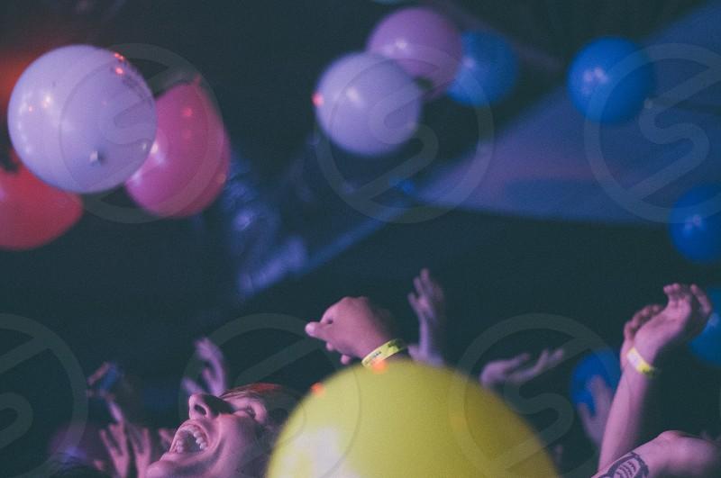 purple balloon  photo