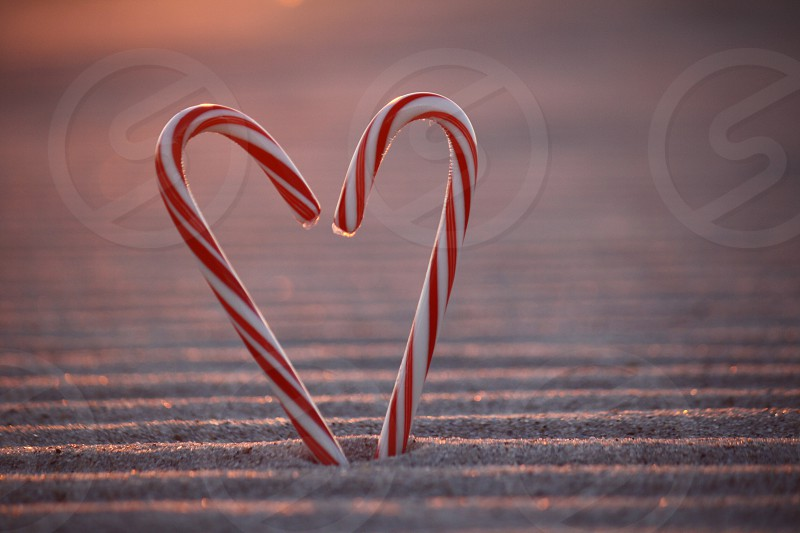 Candy cane heart photo