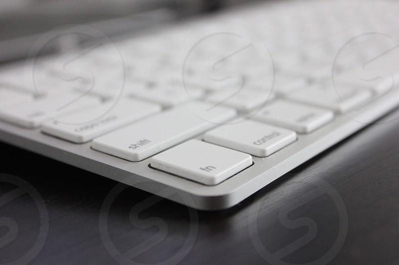 apple magic keyboard in tilt shift lens photo