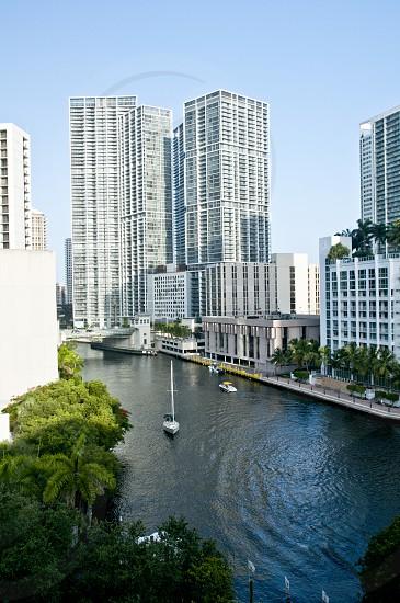 Miami Brickell FLorida Miami River River Building City Cityscape modern city  photo