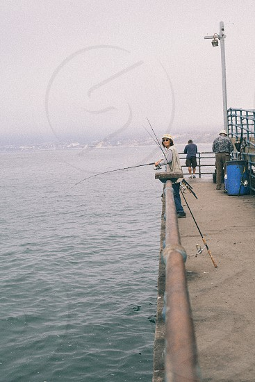 person fishing photo