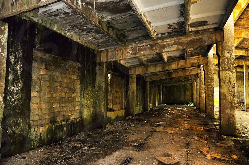 underground cement bridge photo
