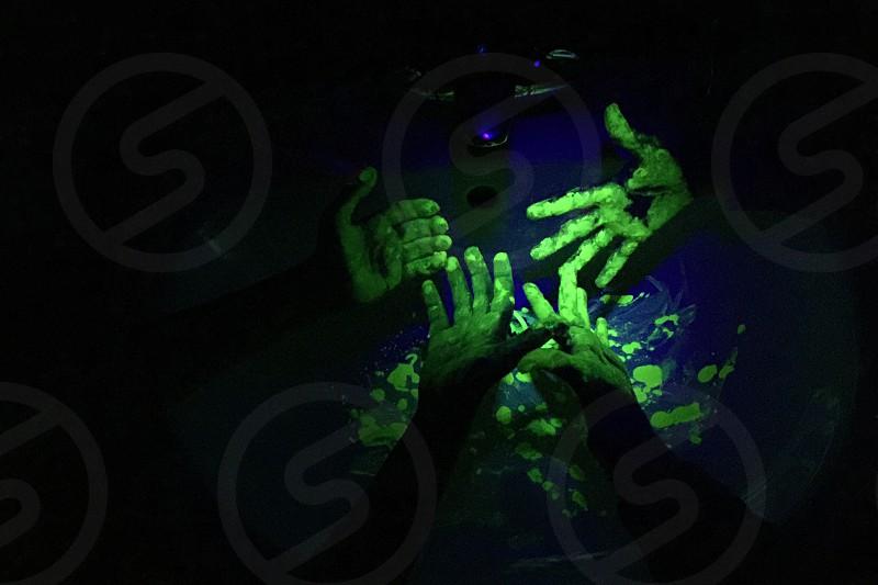 Glow in the dark hands goo  photo