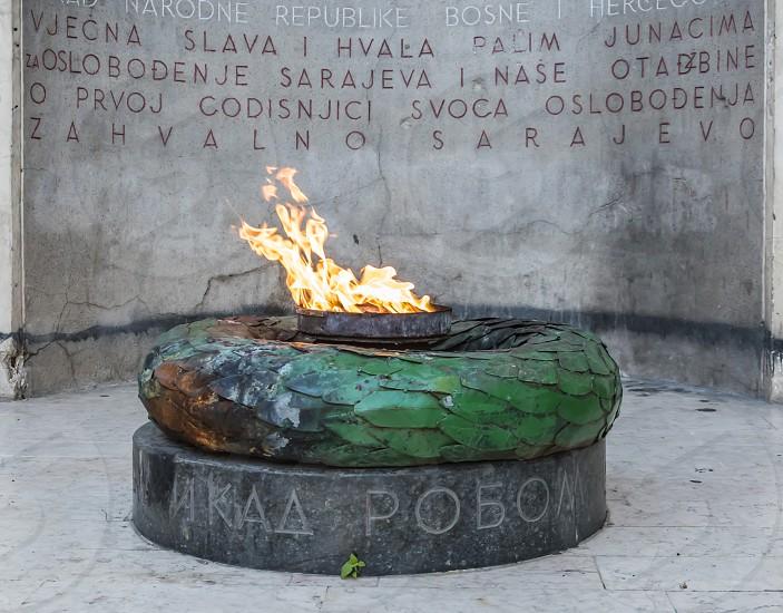 The Eternal flame Sarajevo Bosnia and Herzegovina photo