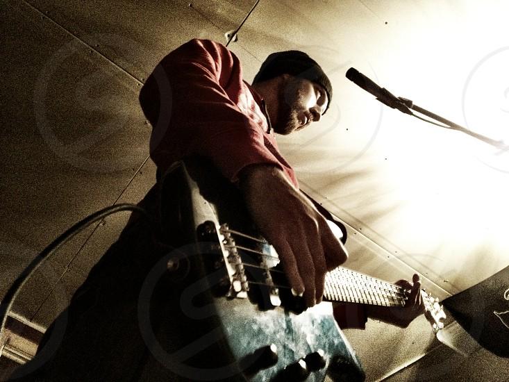 Base guitar rock music photo