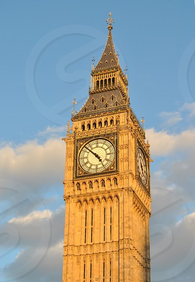 golden hour on big ben photo