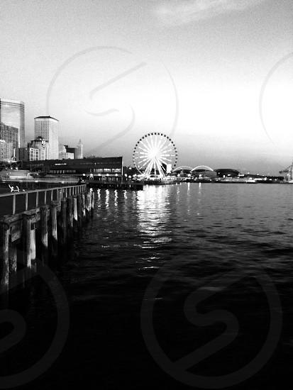 Seattle waterfront. Summer 2014.  photo