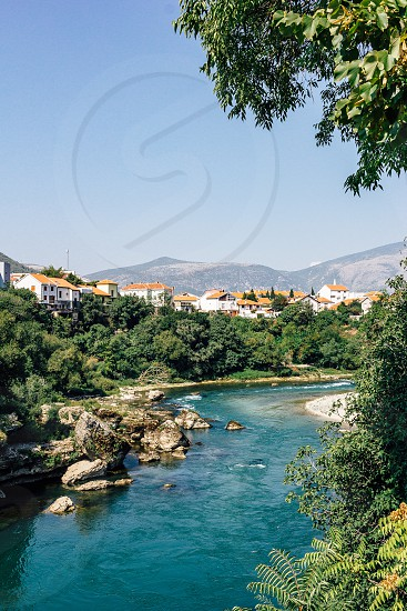 View of Mostar Bosnia photo