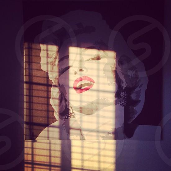 marilyn monroe sun set evening beautiful woman wall poster window shadow sunshine photo
