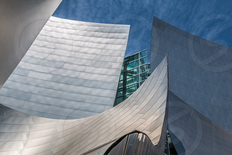 Architectural detail of the Walt Disney Concert Hall. photo