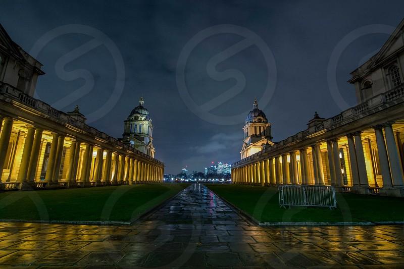 London Greenwich University lights night long exposure  photo