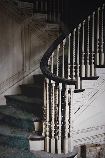 black stair  photo