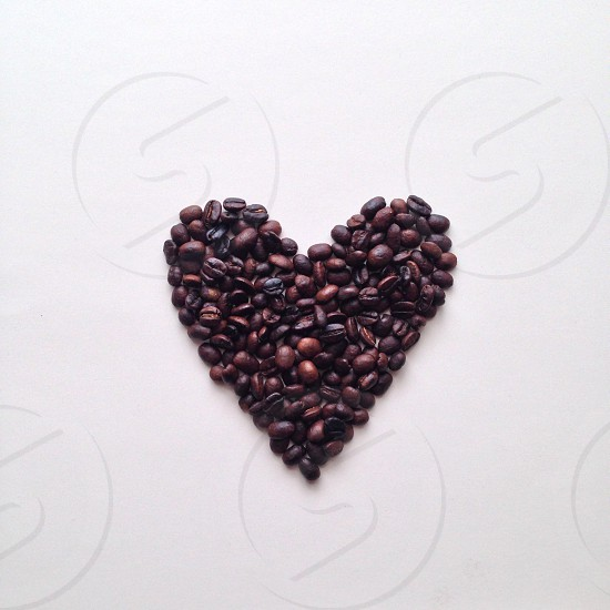 black and brown seeds heart shaped photo