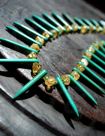 Green stone necklace photo
