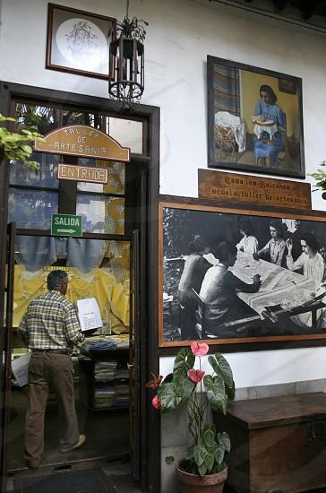 The Casa de La Cultur a in the centre of the Town La Orotava on the Island of Tenerife on the Islands of Canary Islands of Spain in the Atlantic.   photo