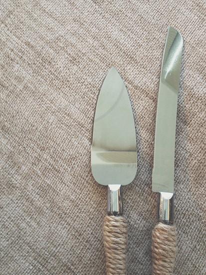 Weddings Wedding Cake utensils knife photo