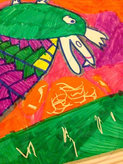 Child's artwork photo