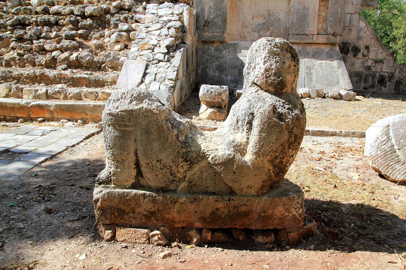 Chac Mool Chichen Itza figure with tray on stomach Mexico Yucatan photo
