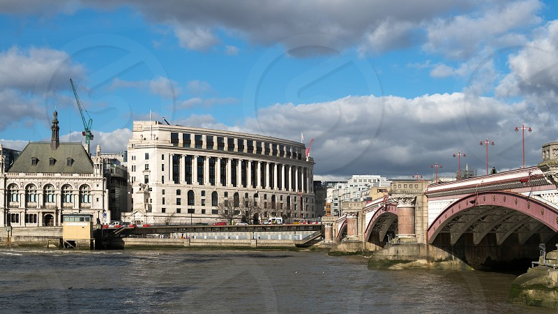 View of the Historic London Skyline photo