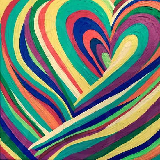 Heart. Love. Color. photo