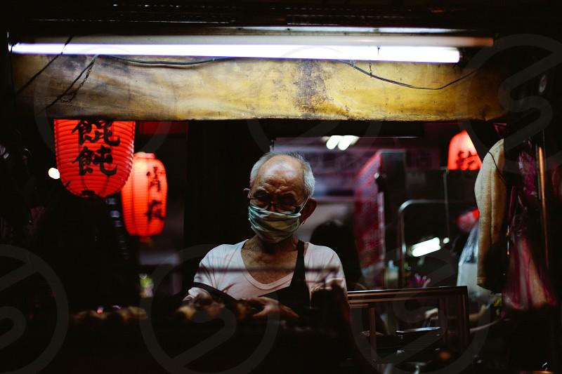 man wearing a mask photo