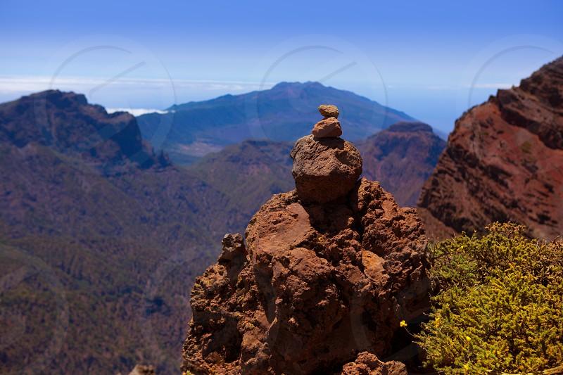 Caldera de Taburiente in Roque Muchachos at La Palma Canary Island photo