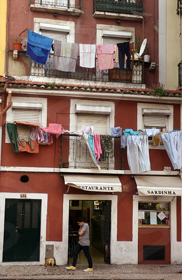 a house in the city centre of Baixa in the city centre of Lisbon in Portugal in Europe. photo