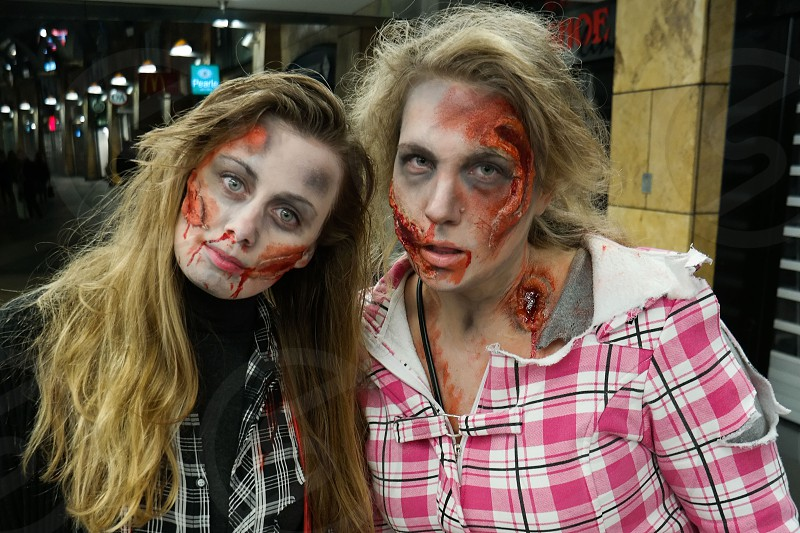 two woman in zombie make up photo