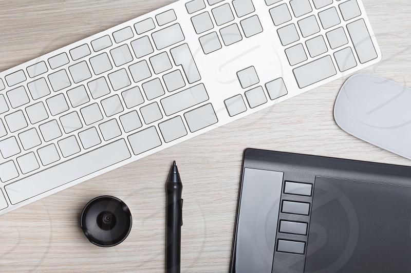 Flat image of a designer desk photo
