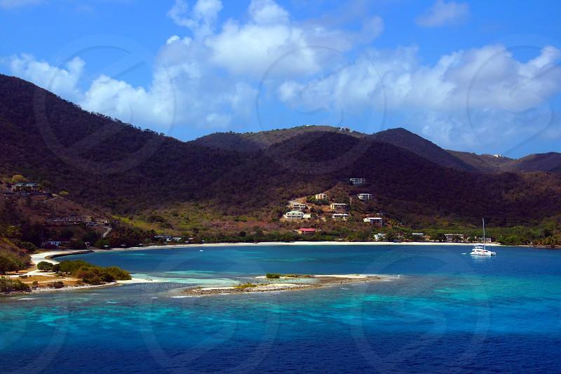 blue sea water photo
