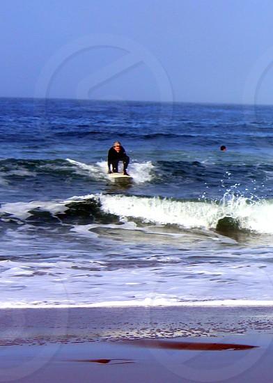 Surfer at Ocean Beach San Francisco  photo