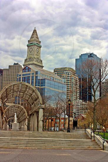 Boston city skyline photo