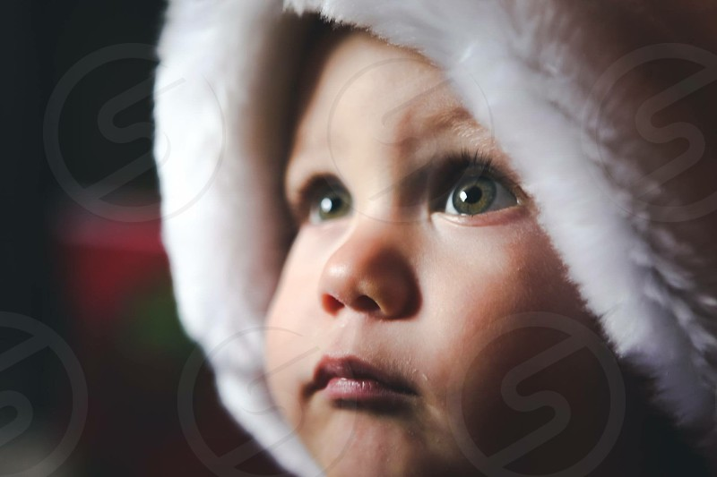 boy in  white hoodie photo