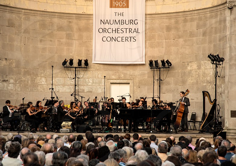 Outdoor classical music concert in NYC photo