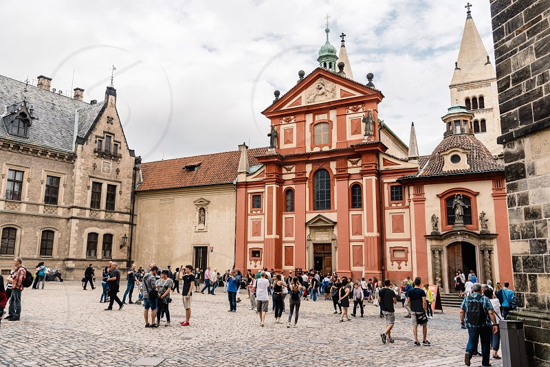 Church of Saint George. It is the oldest surviving church building within Prague Castle. Outdoor view photo