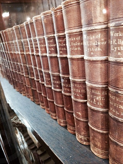 Brown books shelf read educational photo