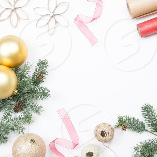 Christmas flatlay holiday photo
