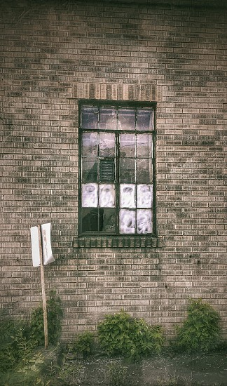 Clouded Vision - windows decay reflection brick buildings urban creepy urbex glass windows photo