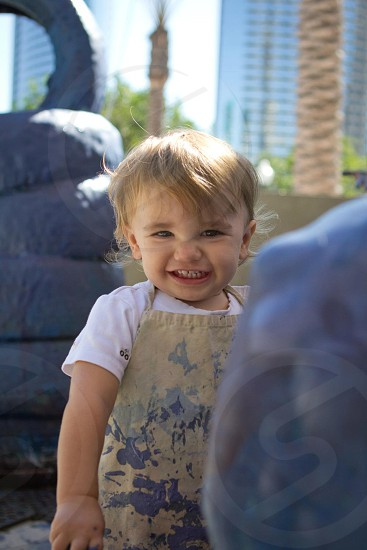 little boy having fun photo