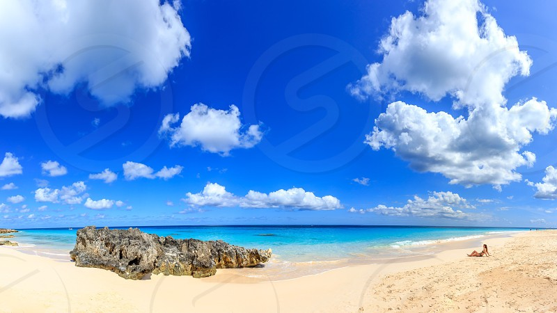 view of white sand photo
