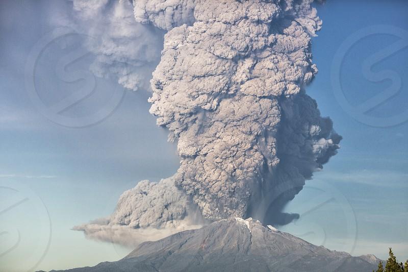 impressive volcano eruption  photo