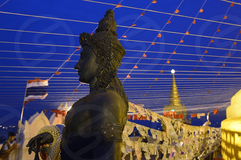the temple of the golden mount in the city of Bangkok in Thailand in Southeastasia. photo