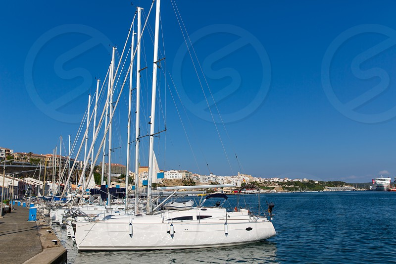 Mao Port of Mahon in Menorca at Balearic islands Spain photo