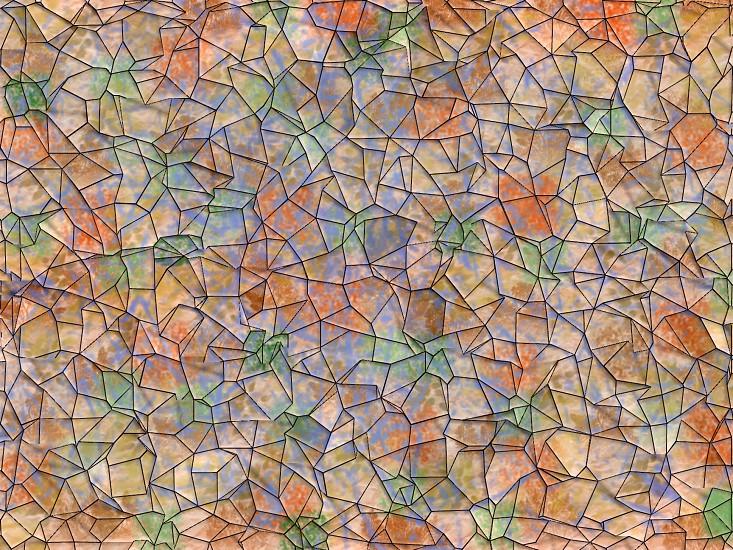 Earth tone random stone pattern photo
